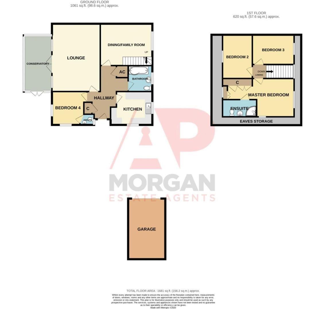 4 bed  for sale in Brooklands Lane - Property Floorplan