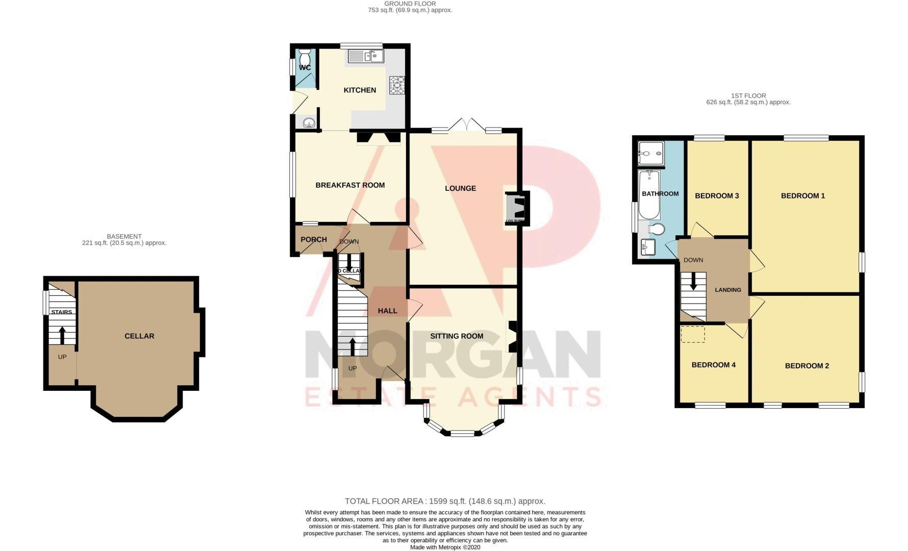 4 bed house for sale in Long Lane - Property Floorplan