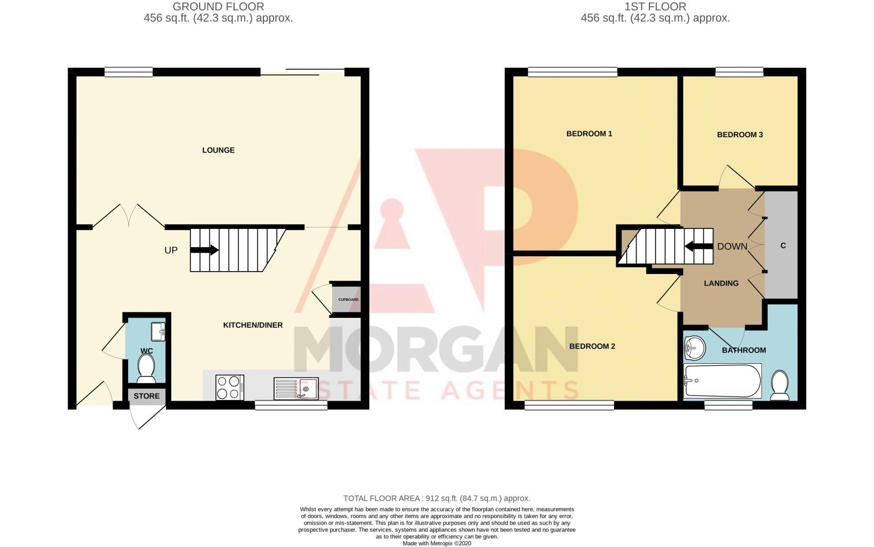 3 bed house for sale in Bushley Close - Property Floorplan