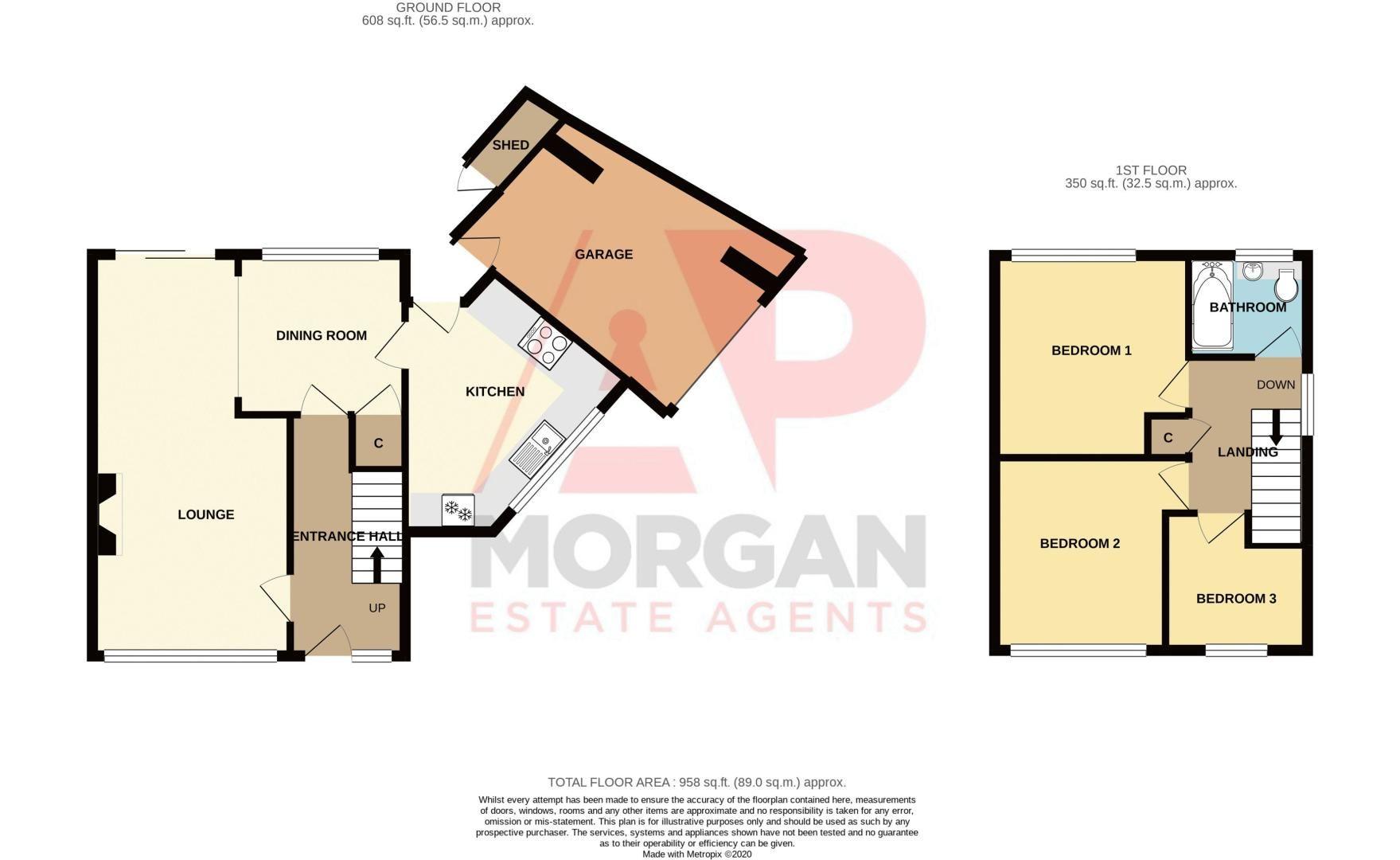 3 bed house for sale in Green Street - Property Floorplan