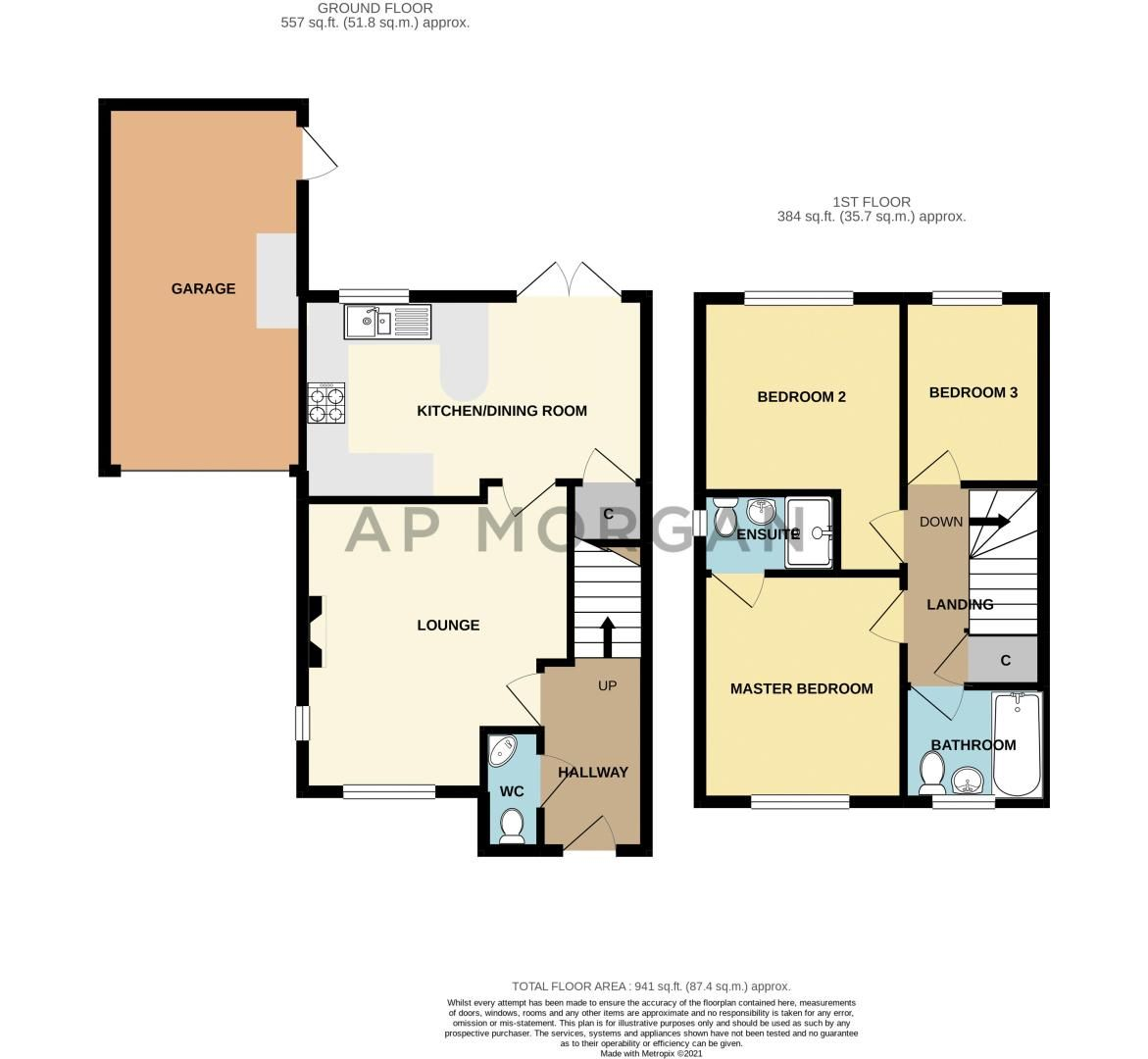 3 bed house for sale in Elrington Close - Property Floorplan