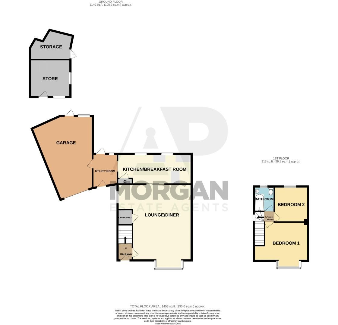 2 bed house for sale in Brandon Grove - Property Floorplan