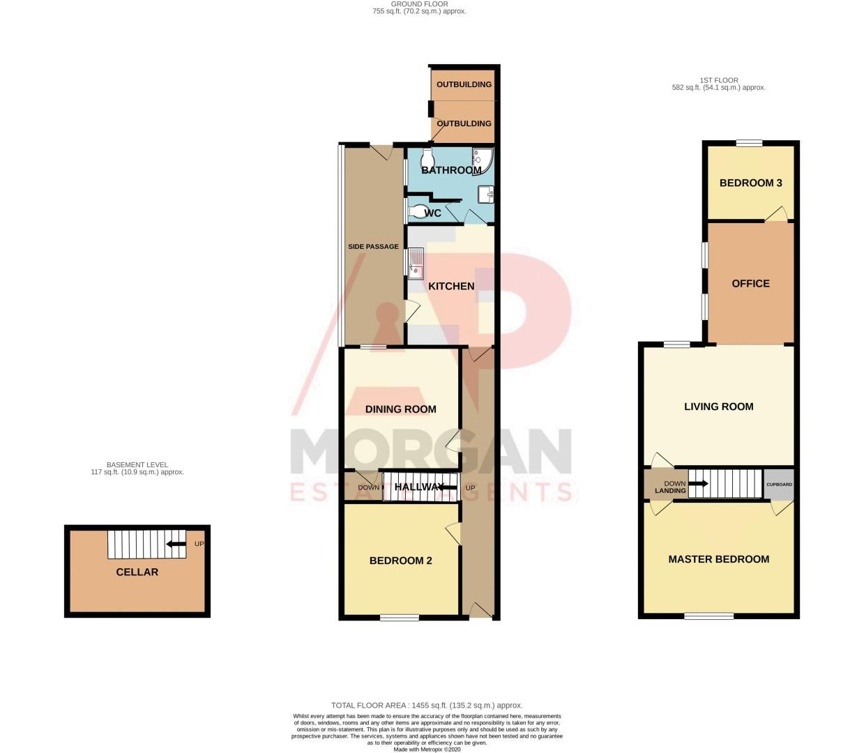 3 bed  for sale in Beoley Road West - Property Floorplan