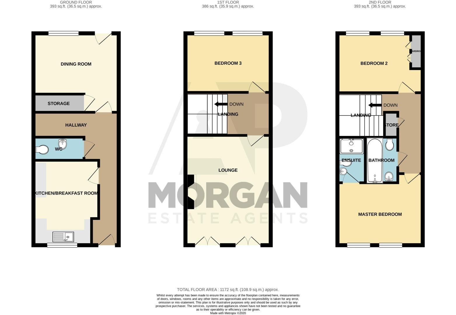 3 bed  for sale in Pastorale Road - Property Floorplan