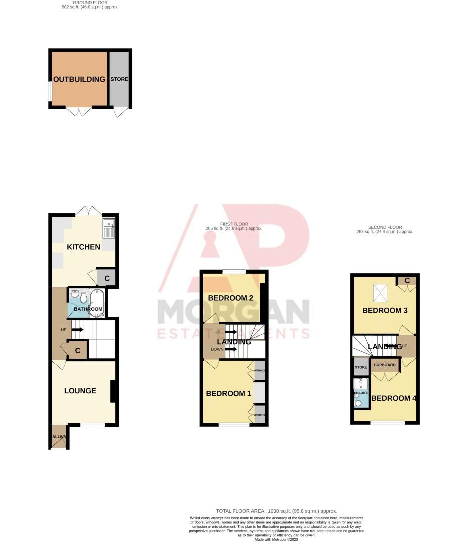 4 bed house for sale in Lodge Road - Property Floorplan