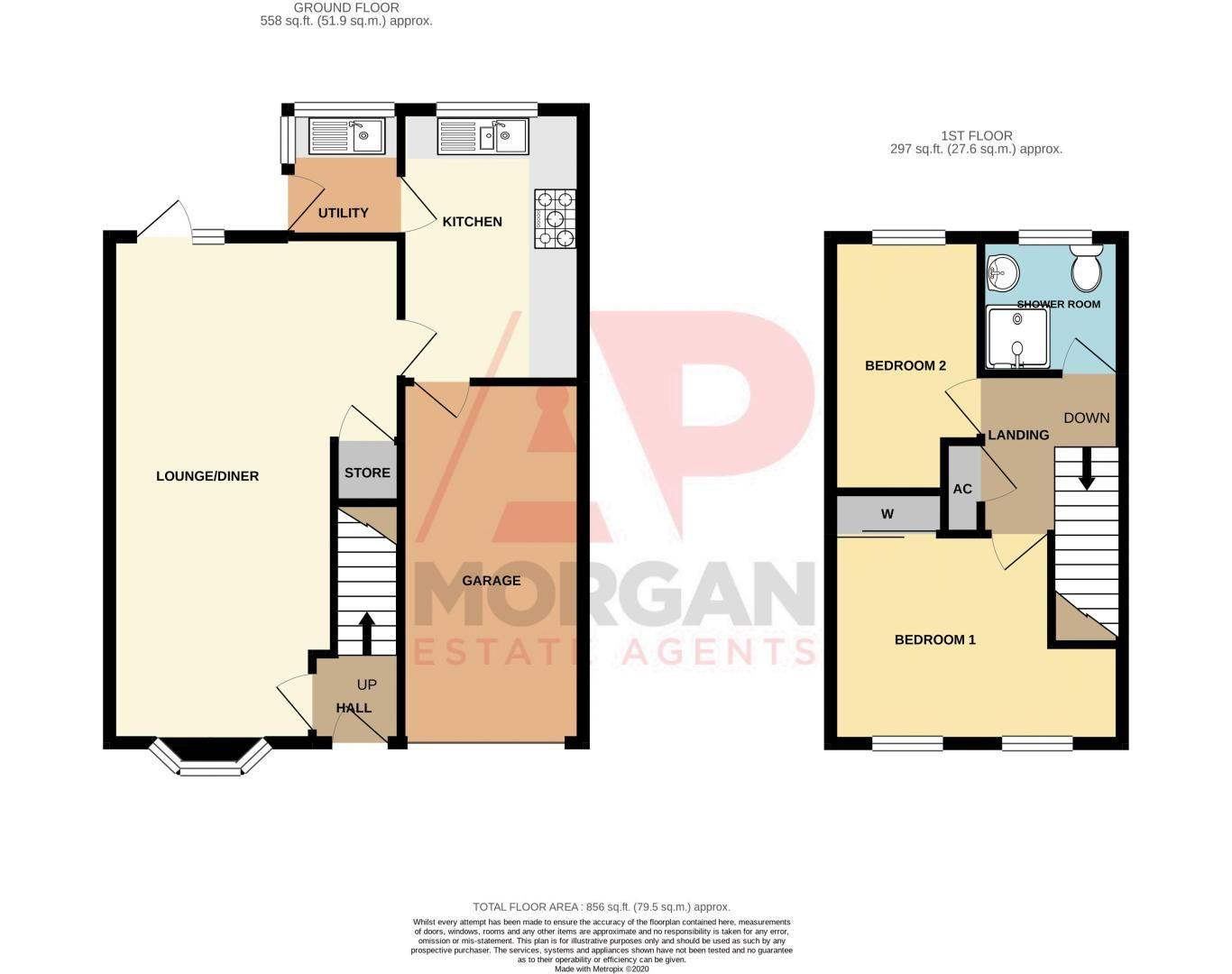 2 bed house for sale in Neighbrook Close - Property Floorplan