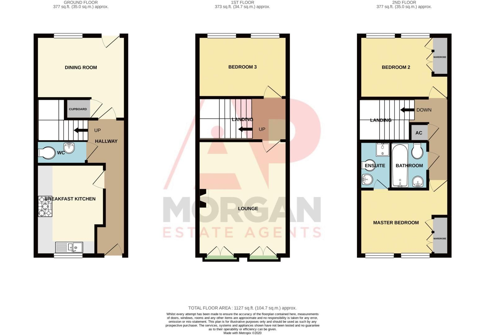 3 bed  for sale in Pastorale Road - Property Floorplan