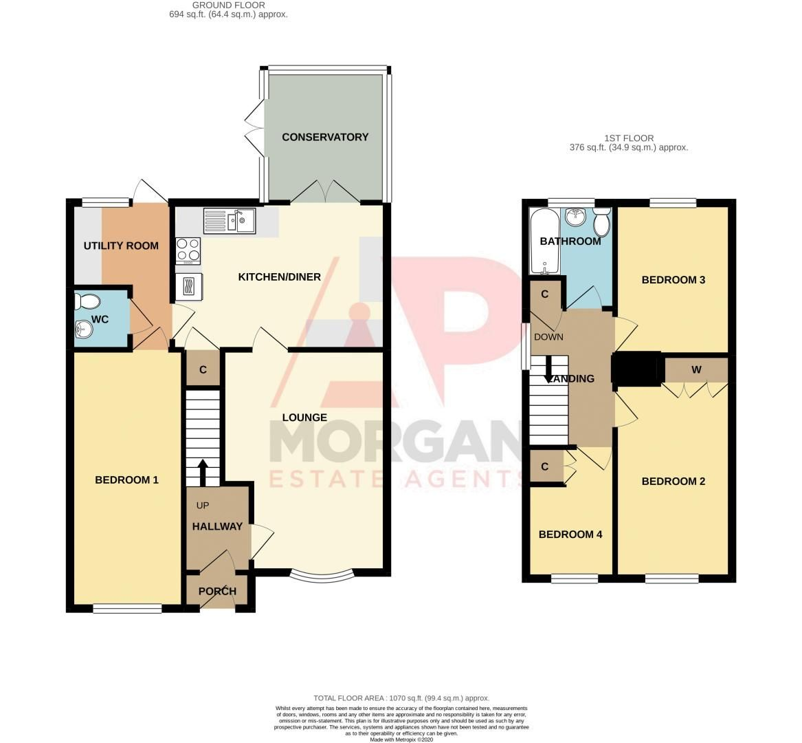 4 bed house for sale in Maisemore Close - Property Floorplan
