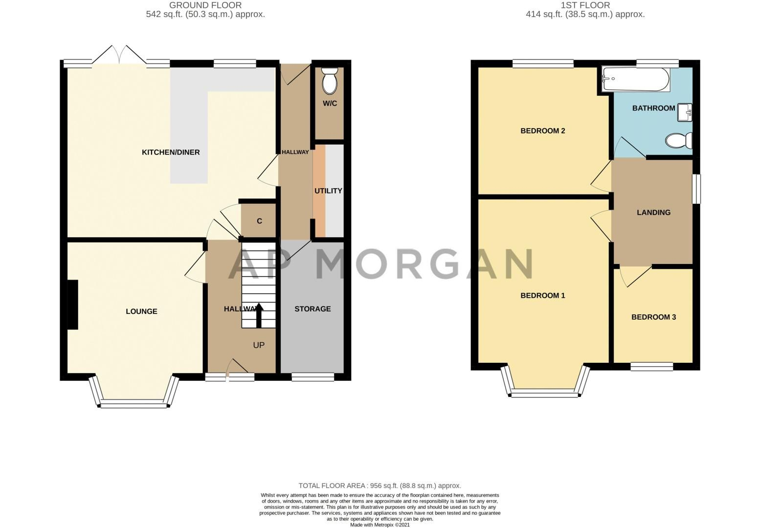 3 bed house for sale in Stourbridge Road - Property Floorplan