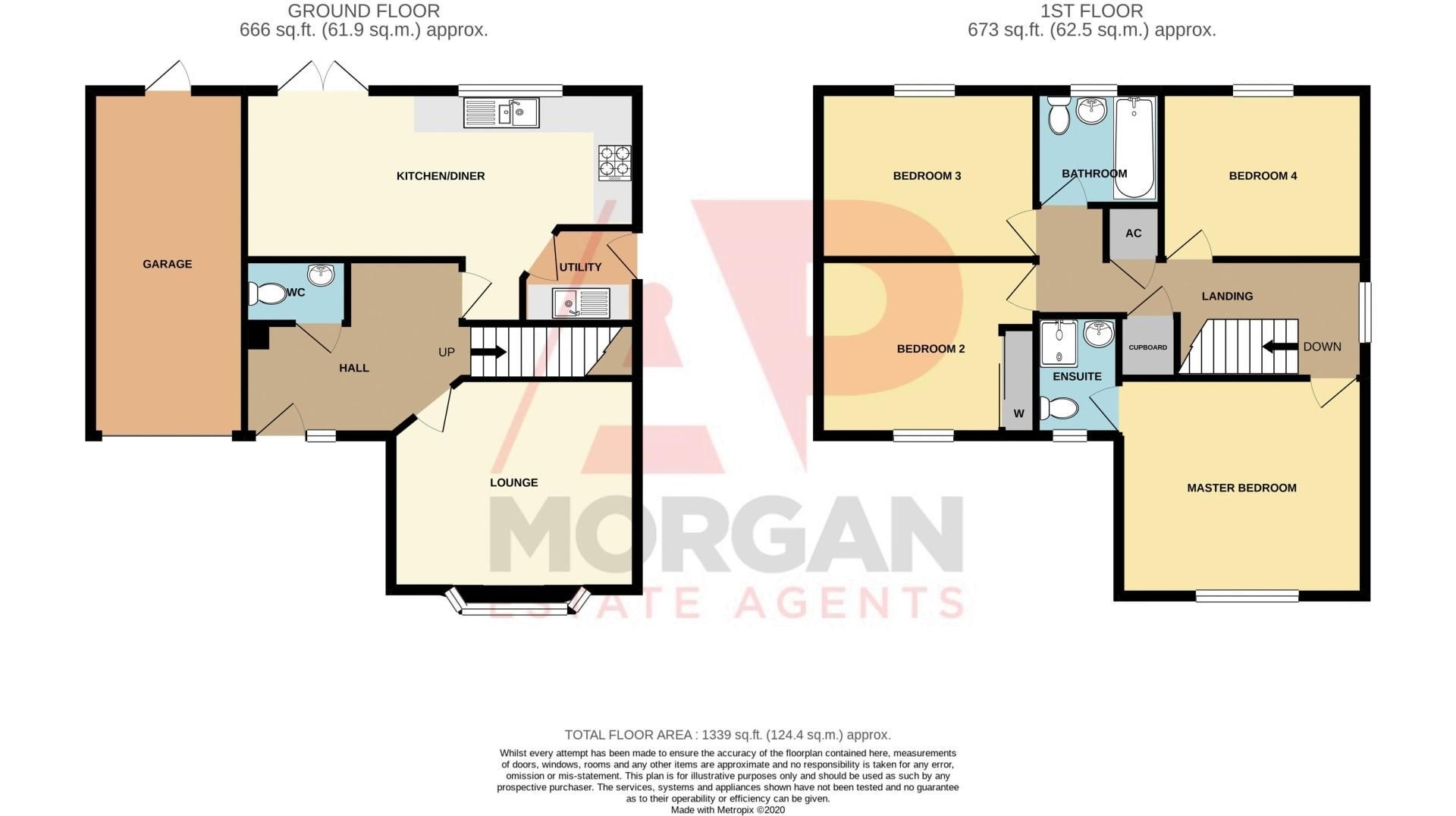 4 bed house for sale in Cross Furlong - Property Floorplan