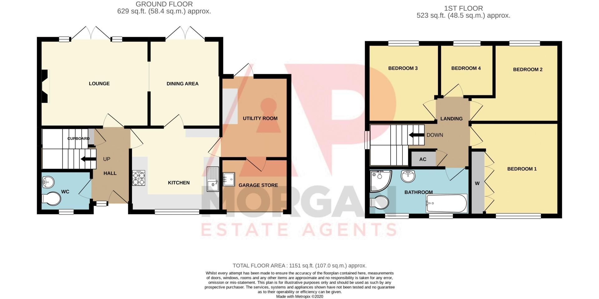4 bed house for sale in Rockford Close - Property Floorplan