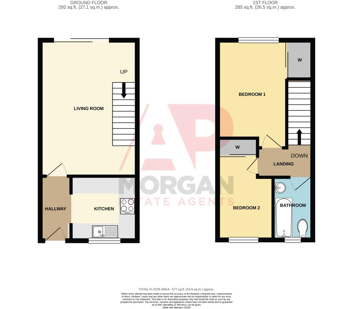 2 bed house for sale in Foxcote Close - Property Floorplan