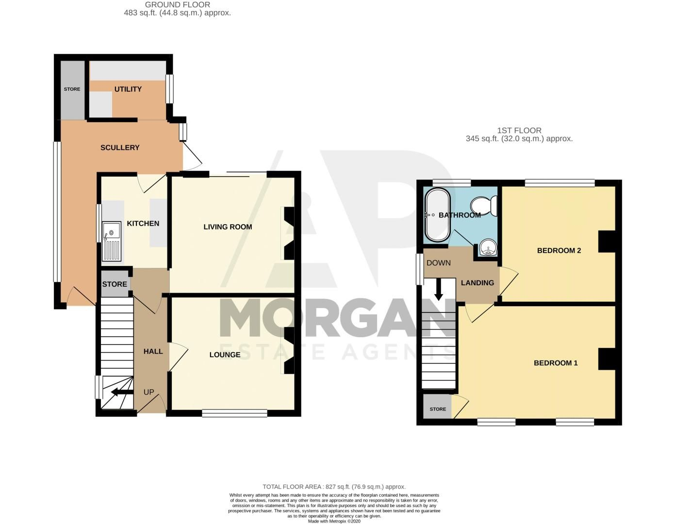 2 bed house for sale in Hollies Road - Property Floorplan