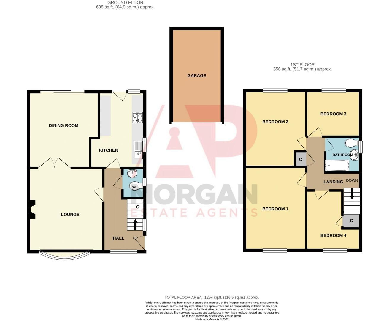 4 bed house for sale in Granby Close - Property Floorplan
