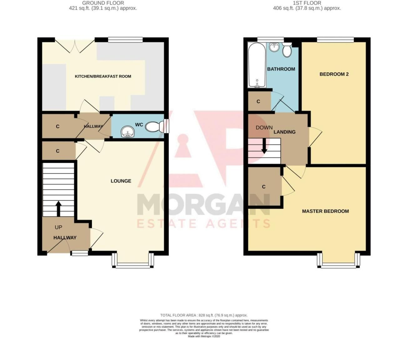 2 bed house for sale in Blakeney Drive - Property Floorplan