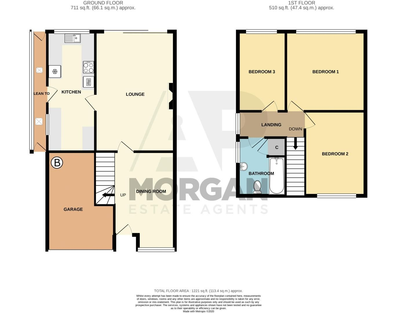 3 bed house for sale in Ombersley Road - Property Floorplan