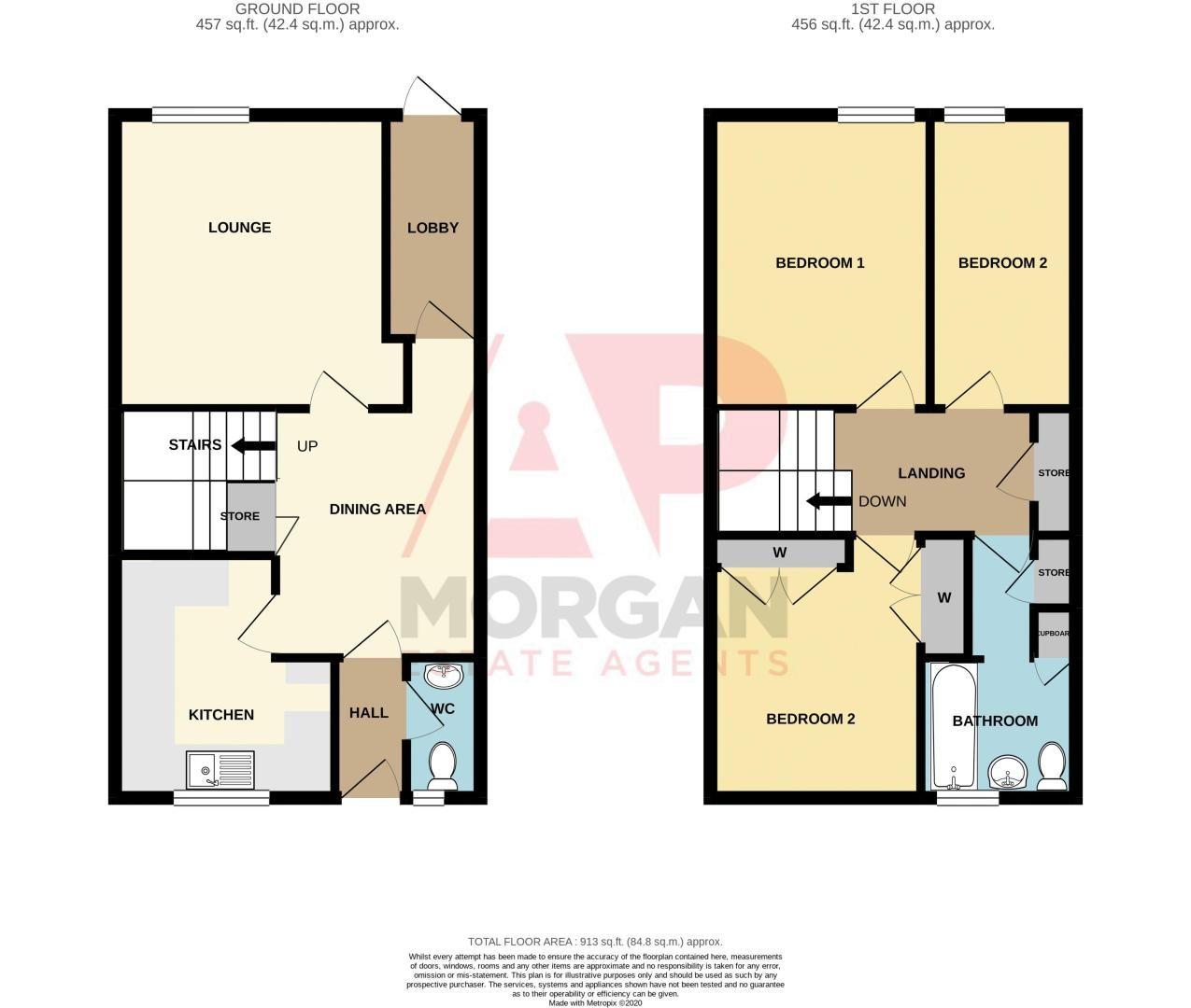3 bed house for sale in Aldington Close - Property Floorplan