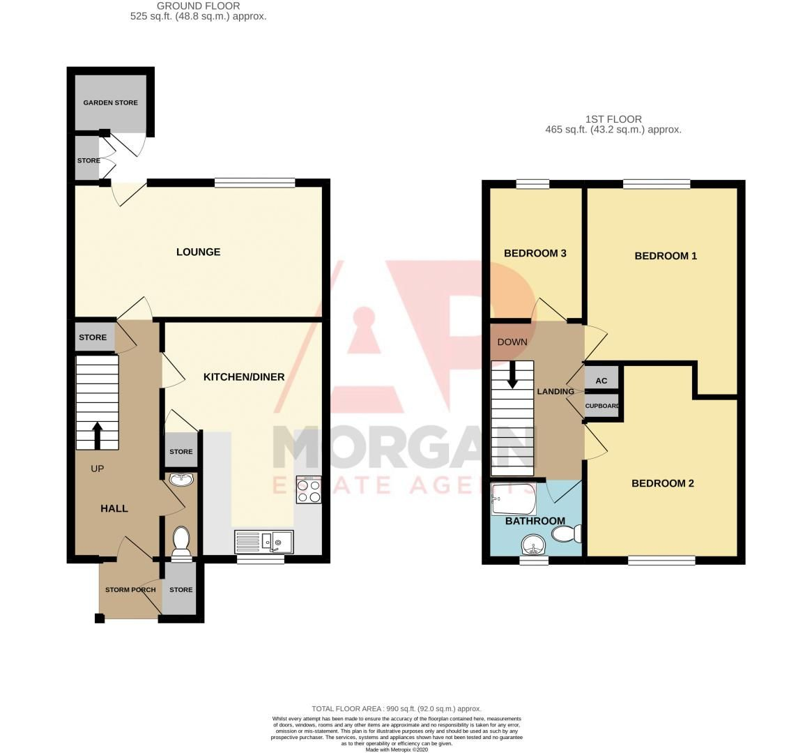3 bed house for sale in High Trees Close - Property Floorplan