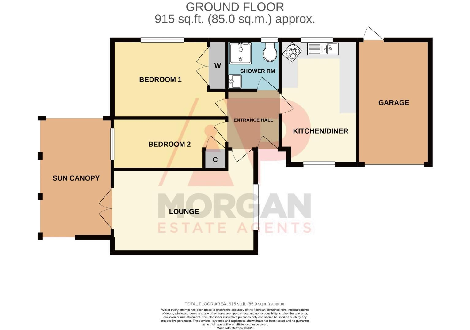 2 bed bungalow for sale in Covers Lane - Property Floorplan