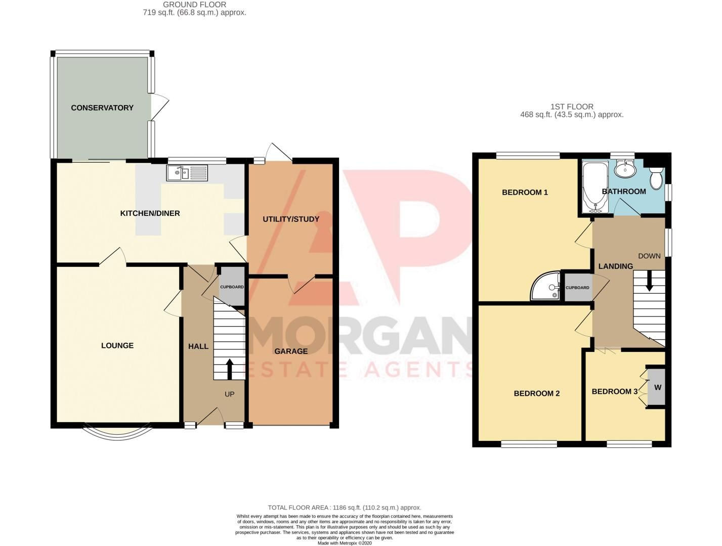 3 bed house for sale in Alveston Close - Property Floorplan
