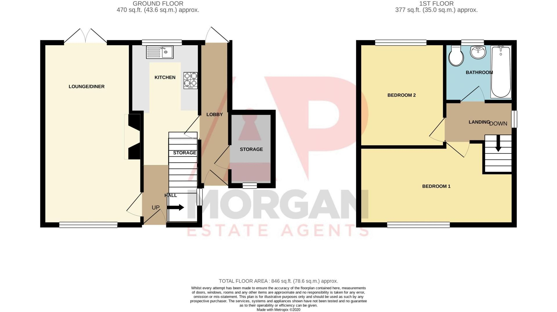 2 bed house for sale in Charford Road - Property Floorplan