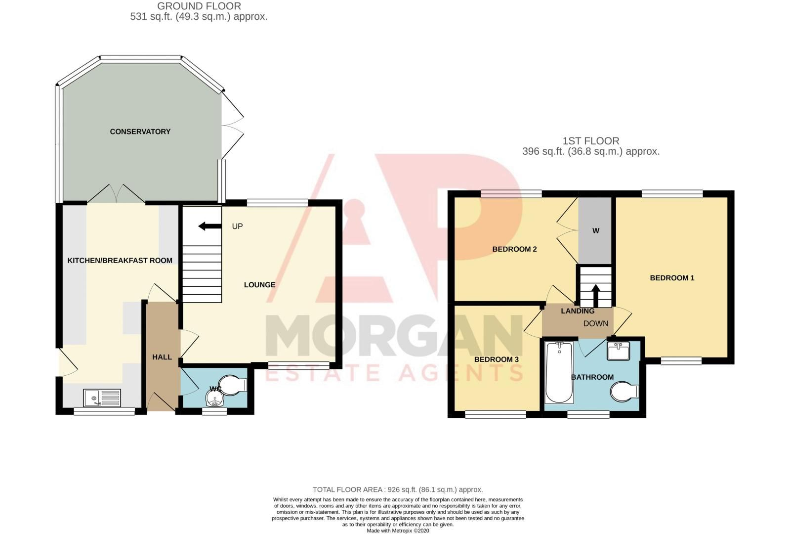 3 bed house for sale in Mill Close - Property Floorplan