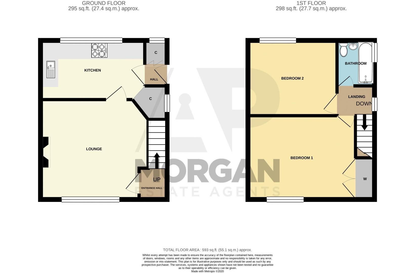 2 bed house for sale in School Road - Property Floorplan