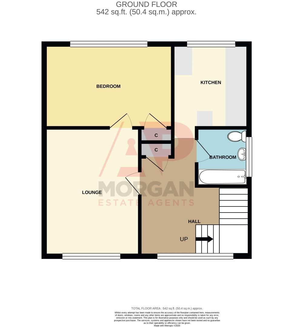 1 bed flat for sale in Crabbe Street - Property Floorplan