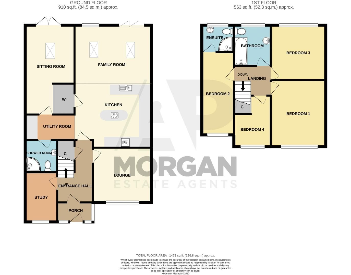 4 bed house for sale in Witley Avenue - Property Floorplan