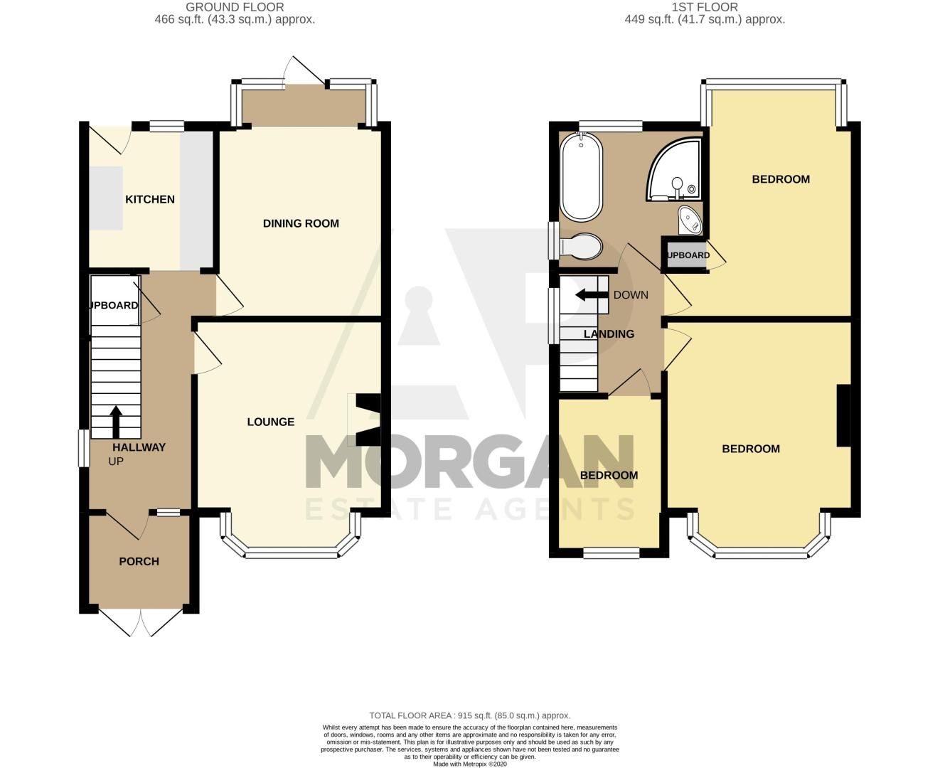 3 bed house for sale in Farren Road - Property Floorplan