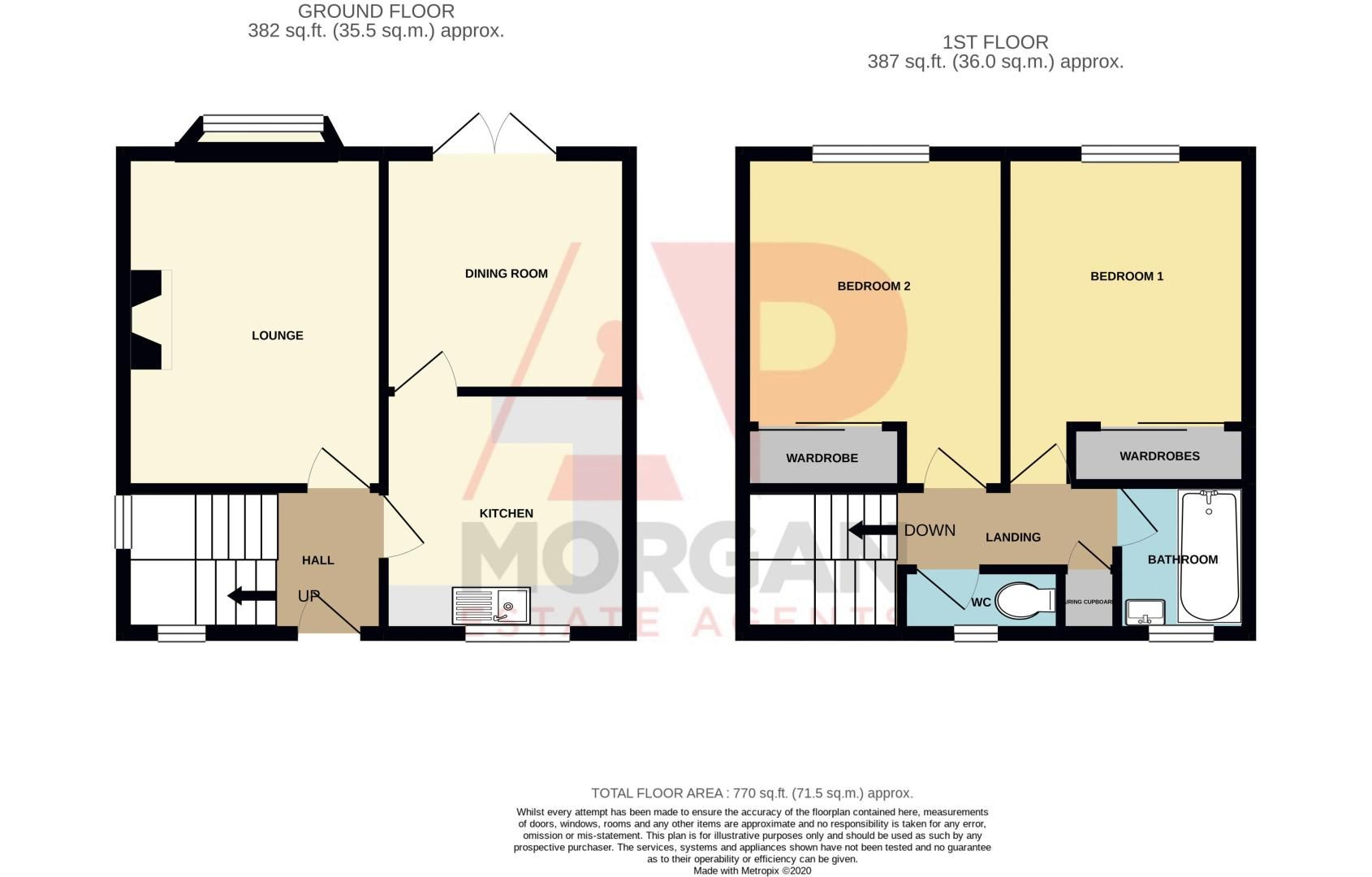 2 bed house for sale in Sandhurst Close - Property Floorplan