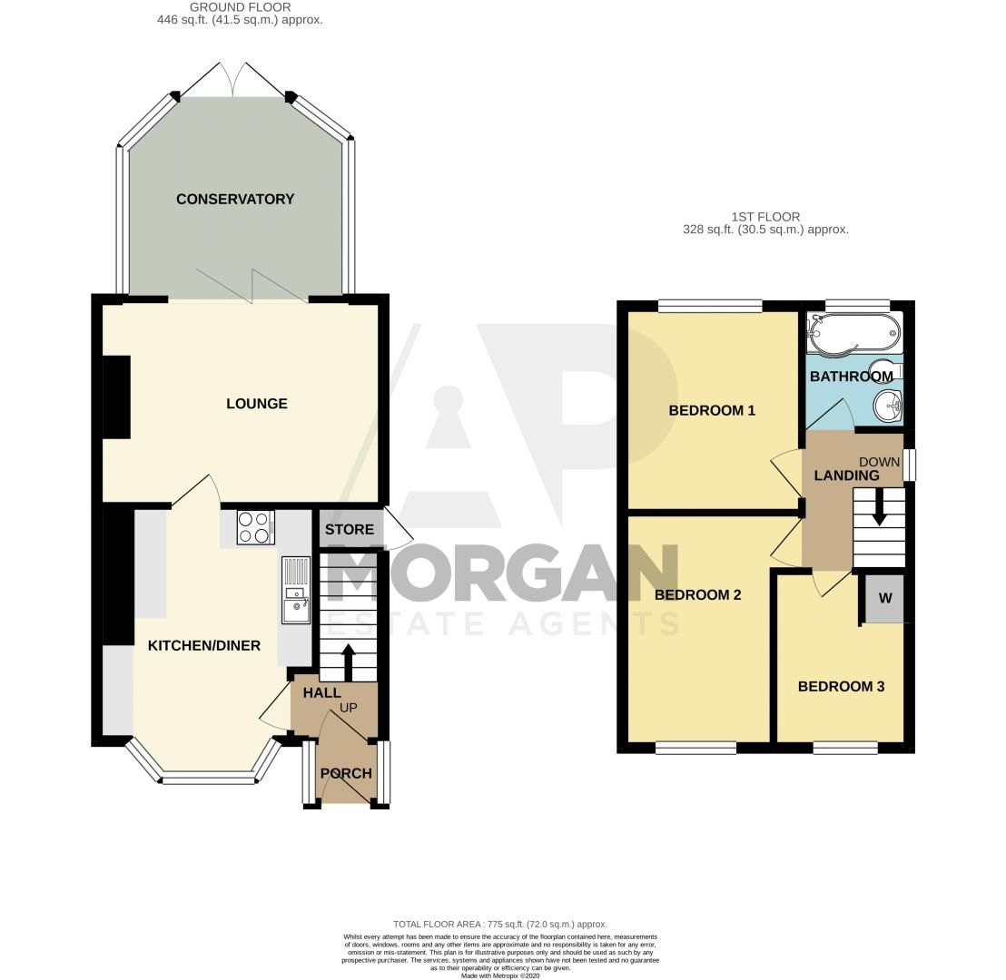 3 bed house for sale in Watery Lane - Property Floorplan
