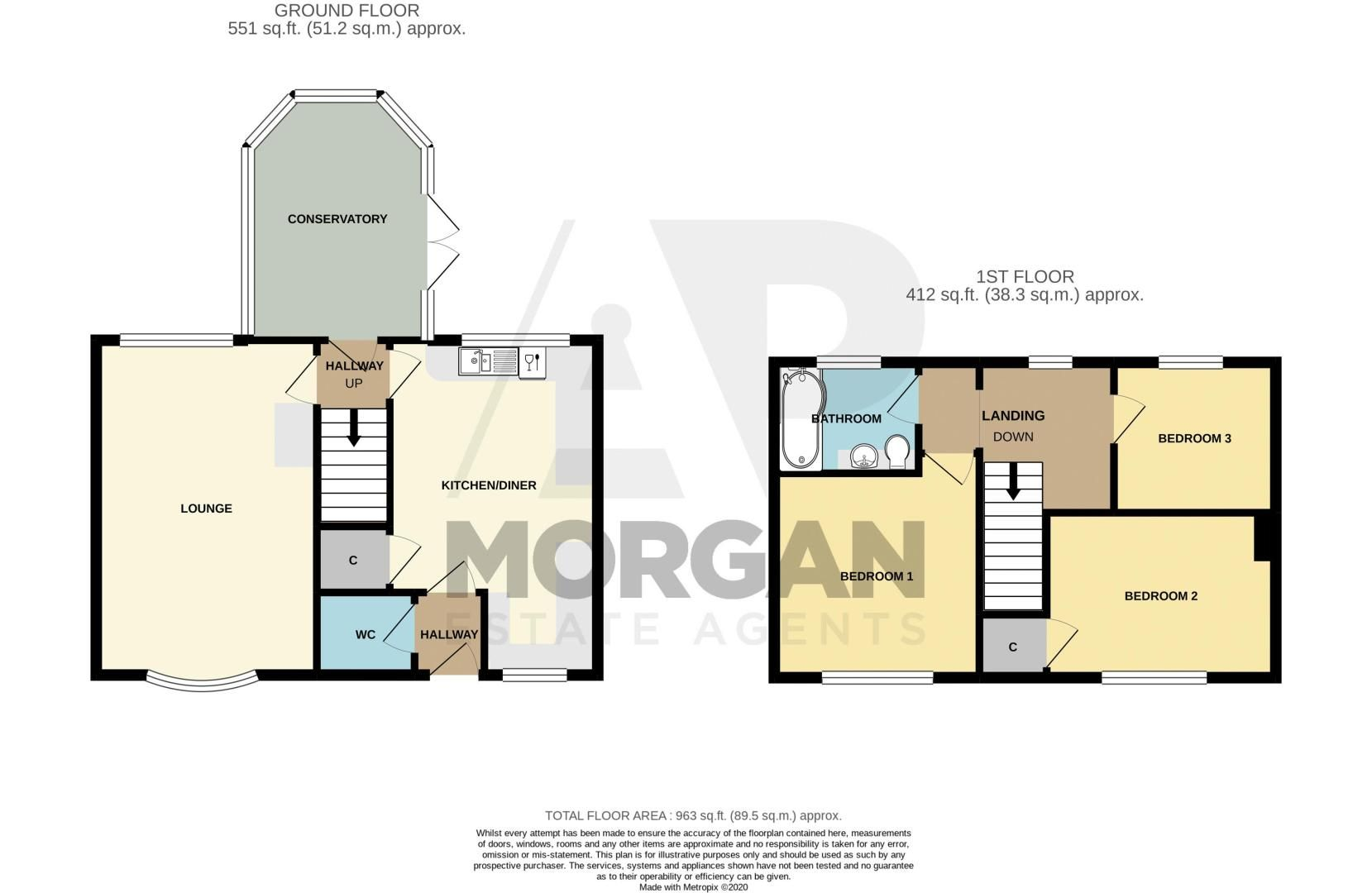 3 bed cottage for sale in Shaw Lane - Property Floorplan