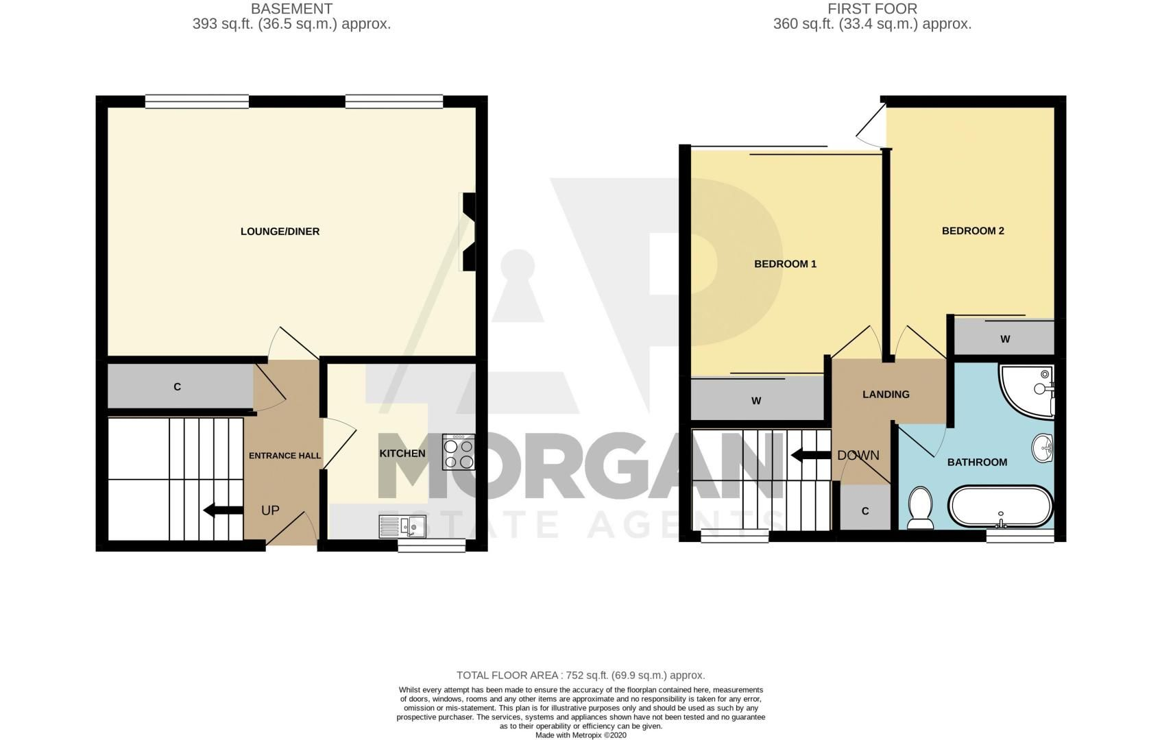 2 bed  for sale in Bundle Hill - Property Floorplan