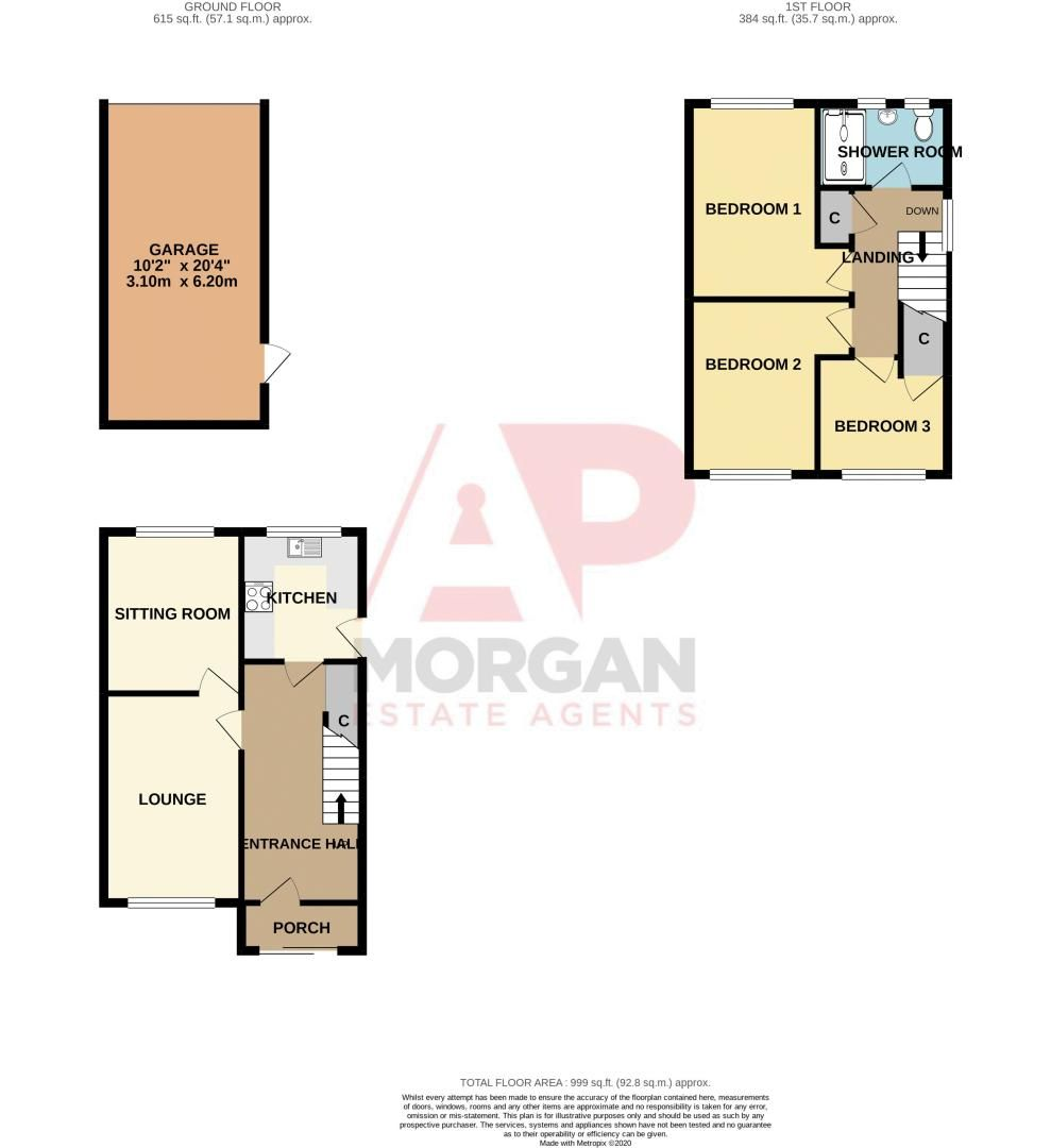 3 bed house for sale in Regis Heath Road - Property Floorplan