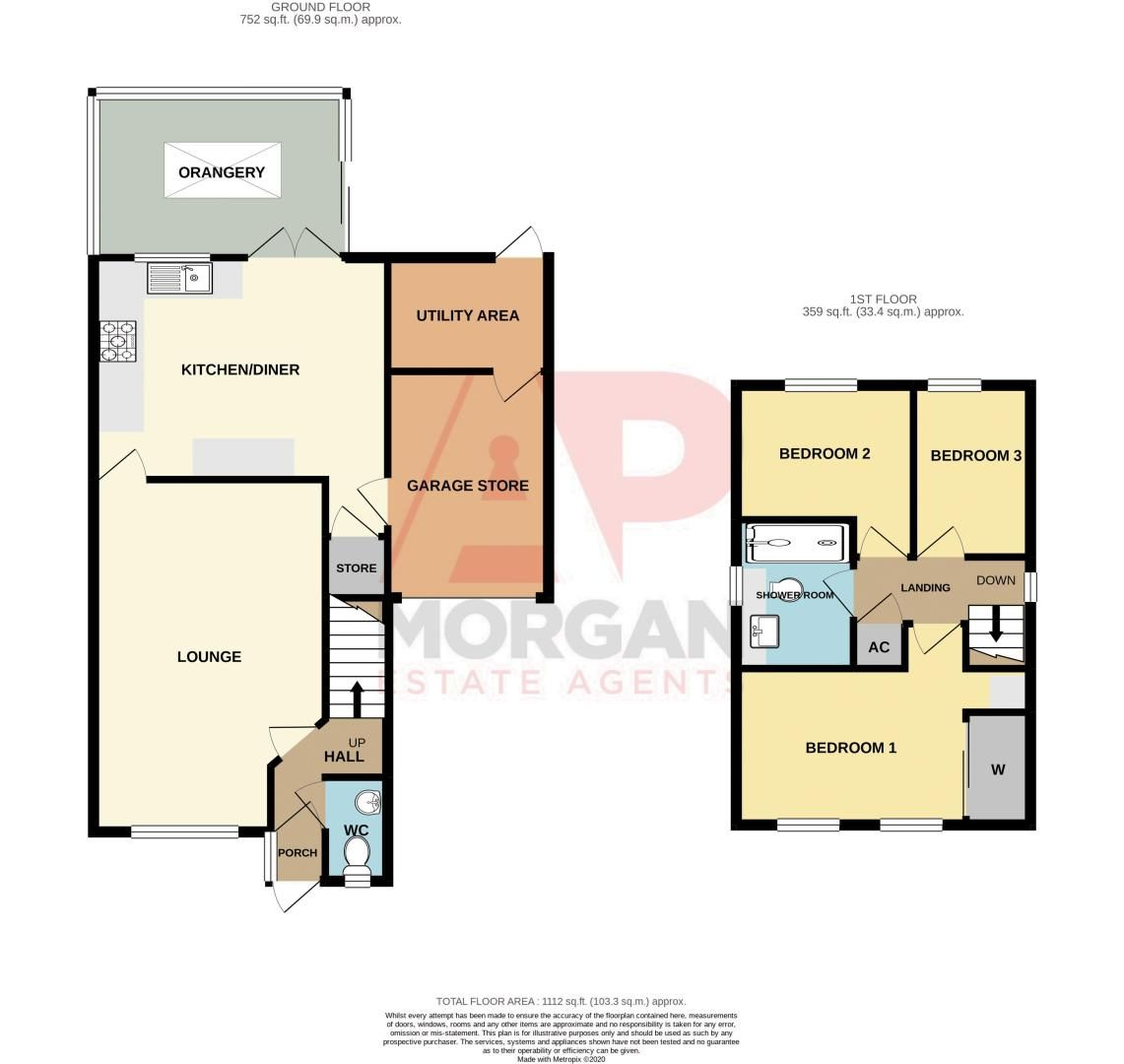 3 bed house for sale in Kite Lane - Property Floorplan