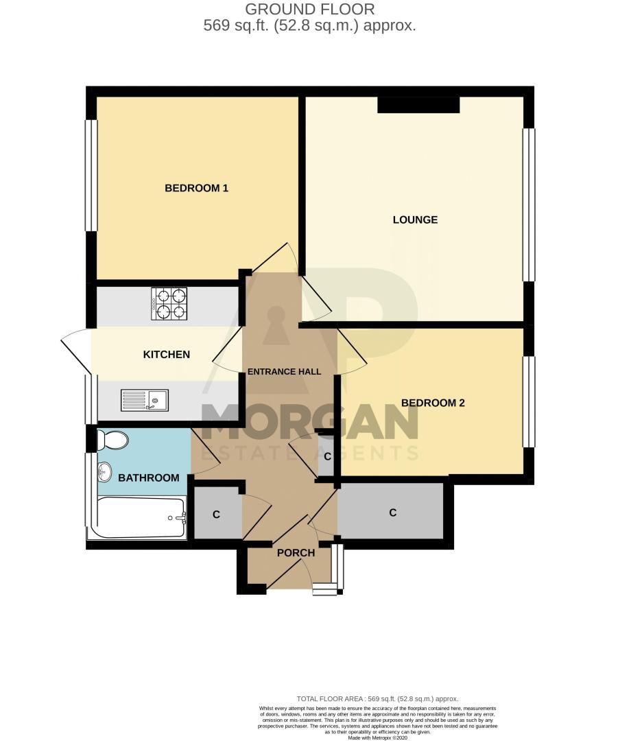 2 bed  for sale in Grange Crescent - Property Floorplan