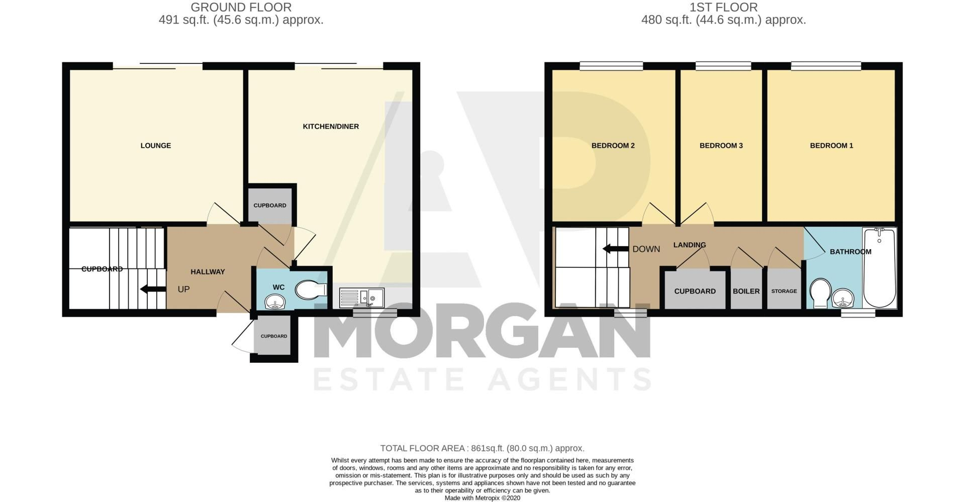 3 bed house for sale in Winforton Close - Property Floorplan