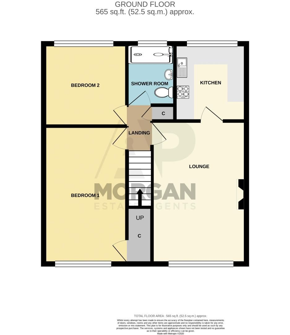 2 bed  for sale in Wicklow Close - Property Floorplan