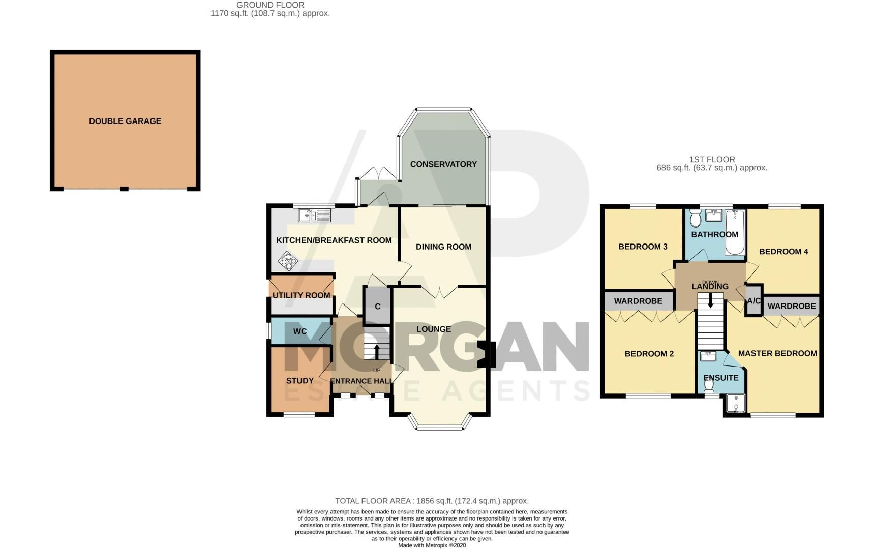 4 bed house for sale in Ettingley Close - Property Floorplan