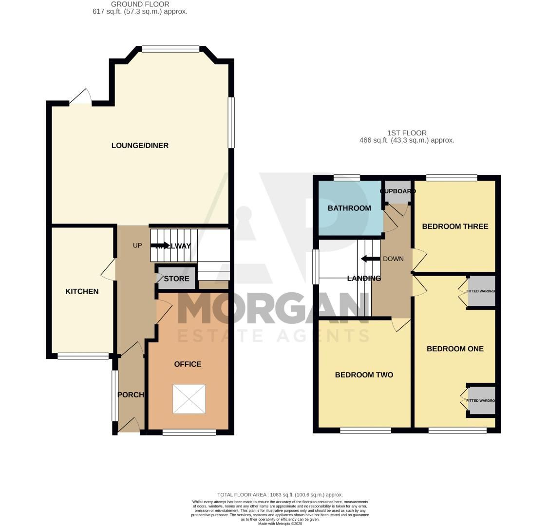 3 bed house for sale in Atcham Close - Property Floorplan