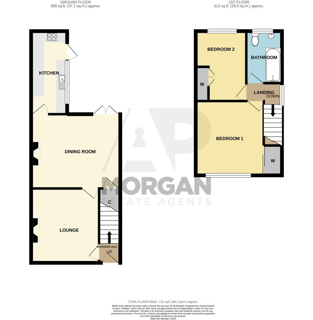 2 bed house for sale in Rowley Village - Property Floorplan