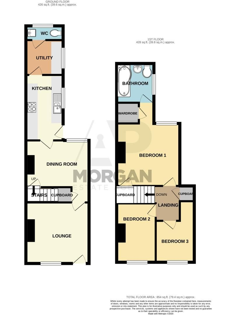 3 bed house for sale in Victoria Street - Property Floorplan