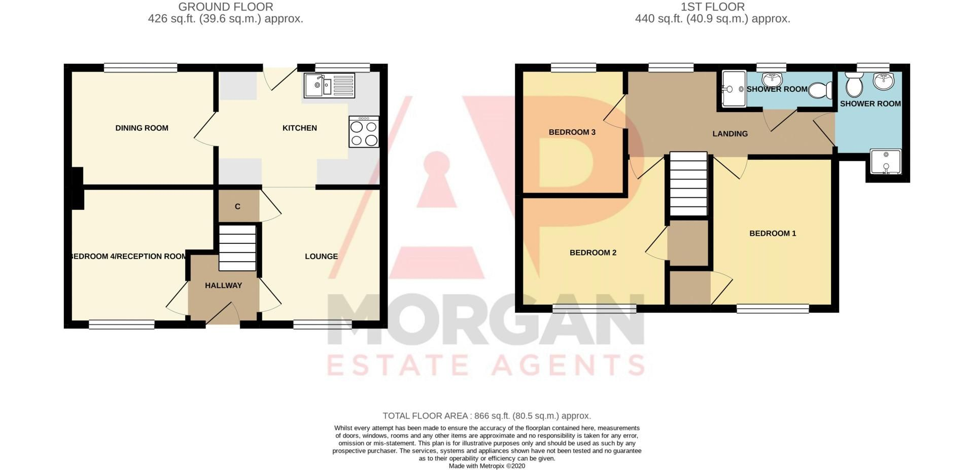 4 bed house to rent in Whitford Close - Property Floorplan