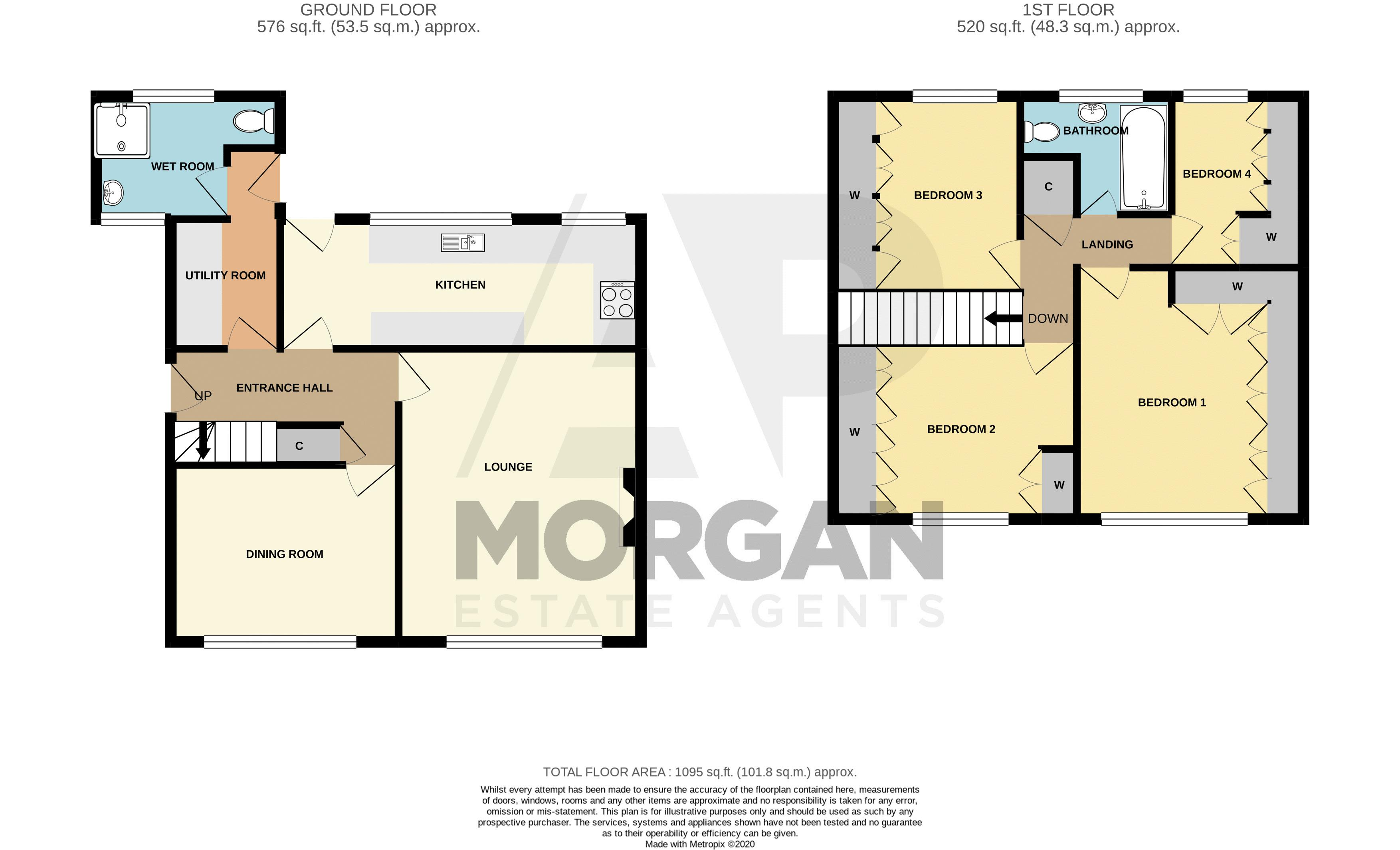 4 bed house for sale in Newark Road - Property Floorplan