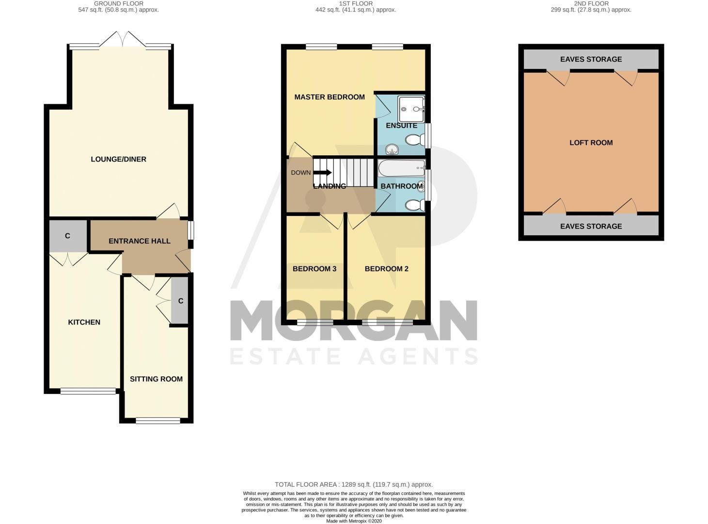 3 bed house for sale in Brook Street - Property Floorplan