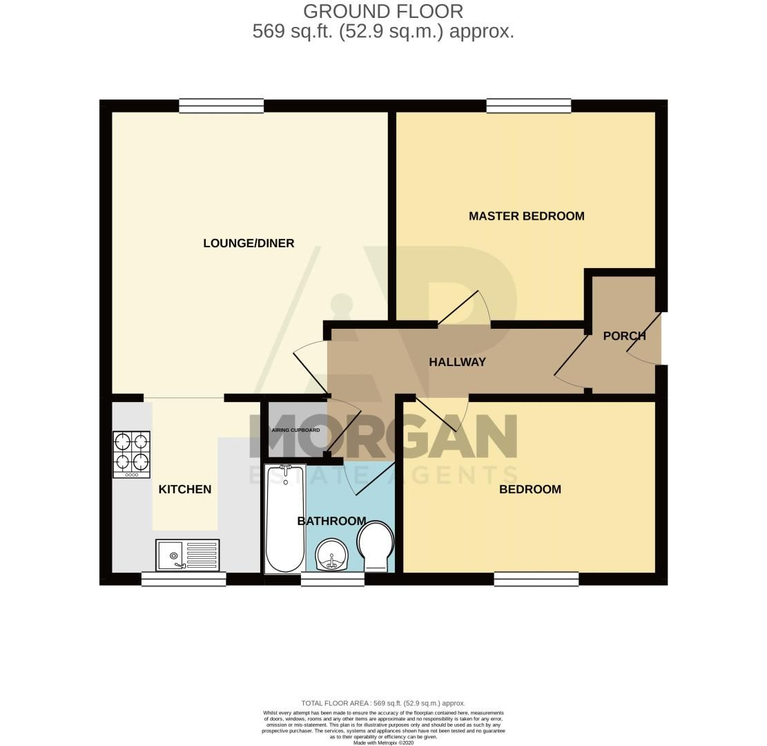 2 bed flat for sale in Forge Avenue - Property Floorplan