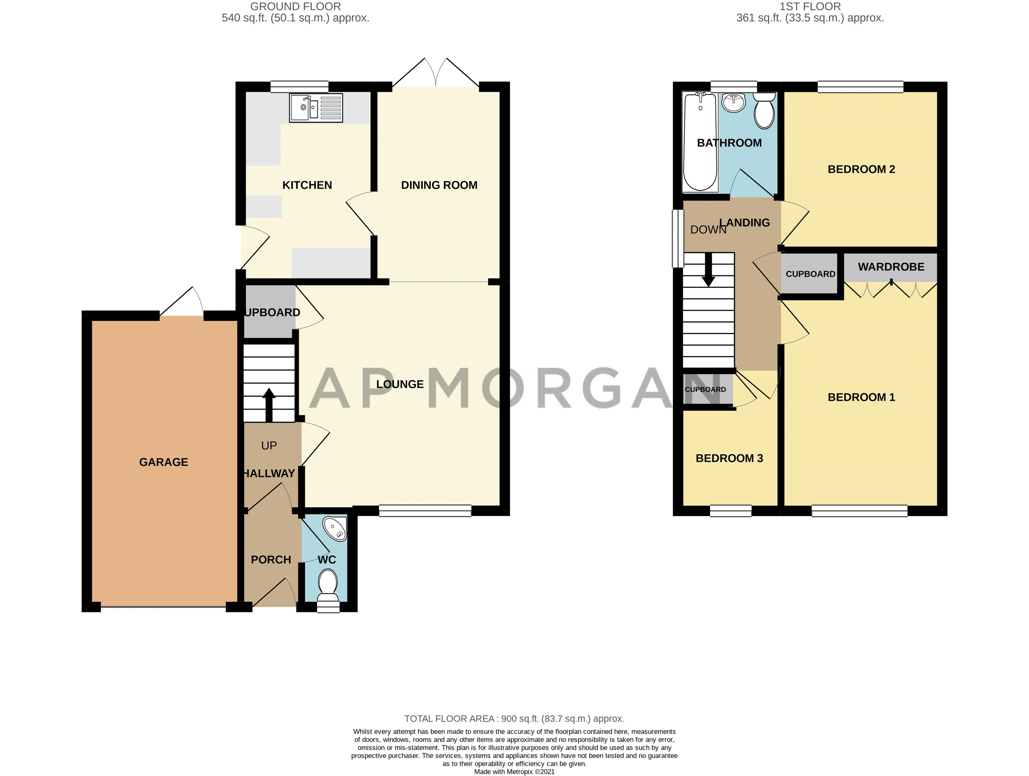 3 bed house for sale in High Meadows - Property Floorplan