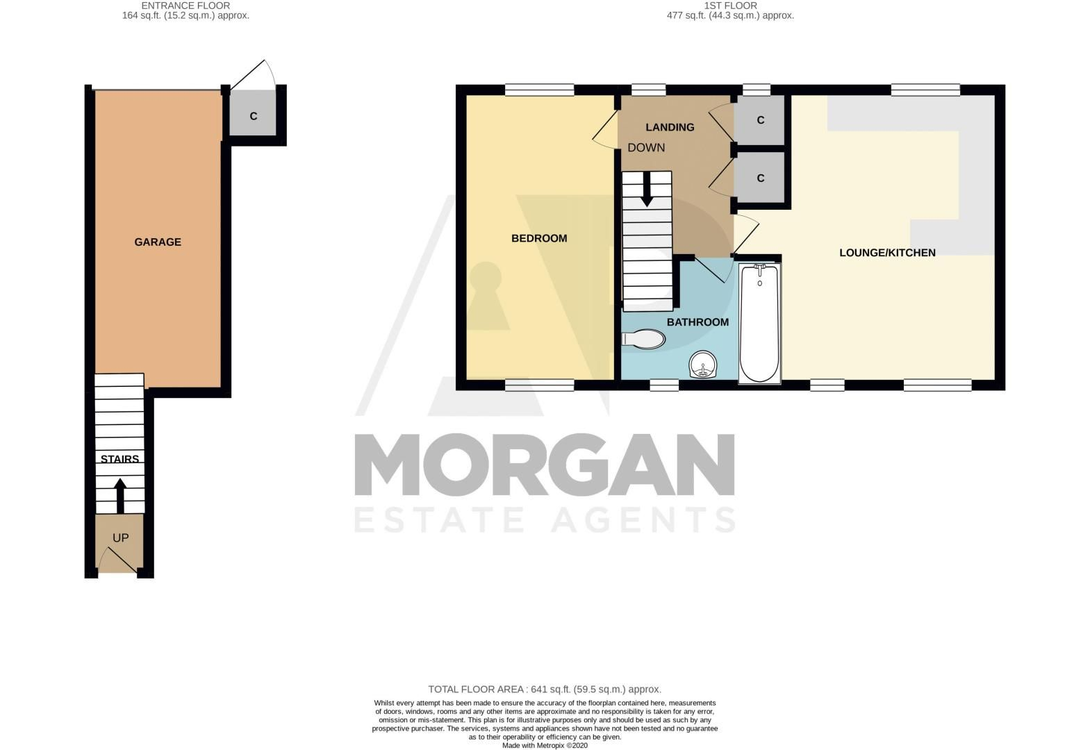 1 bed house for sale in Portway Road - Property Floorplan