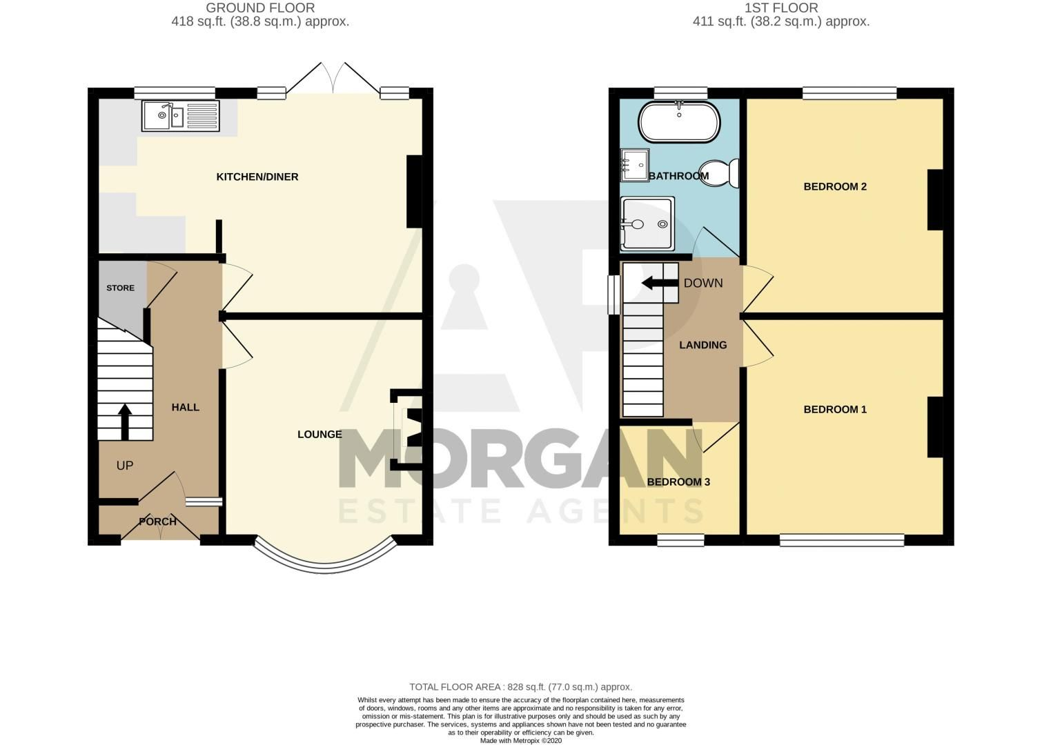 3 bed house for sale in Tanhouse Lane - Property Floorplan